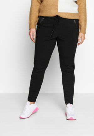 VMEVA LOOSE STRING ZIPPER PANT - Trousers - black