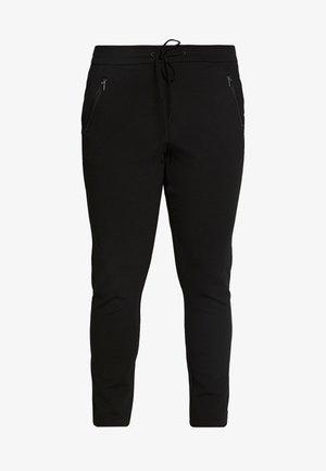 VMEVA LOOSE STRING ZIPPER PANT - Kalhoty - black