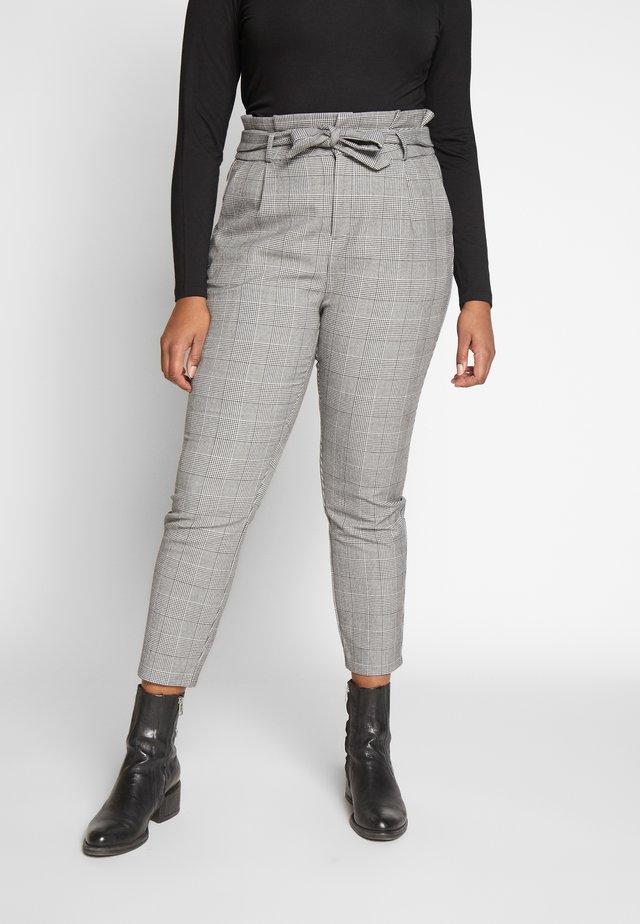 VMEVA LOOSE PAPERBAG CHECK - Kalhoty - grey