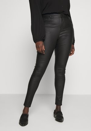 VMSOPHIA SMOOTH COATED PANT  - Pantalon classique - black/coated