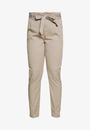 VMEVA LOOSE PAPERBAG COT  - Bukse - beige