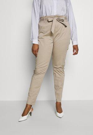 VMEVA LOOSE PAPERBAG COT  - Kalhoty - beige
