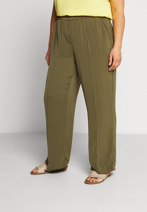 VMKARINA WIDE PANT - Trousers - ivy green