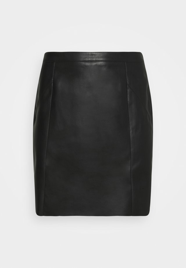 VMNORARIO SHORT COATED SKIRT - Kynähame - black