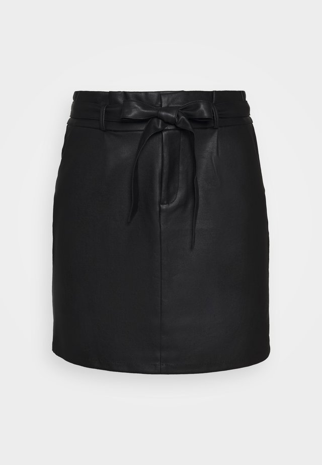VMEVA PAPERBAG SHORT COATED - Minikjol - black