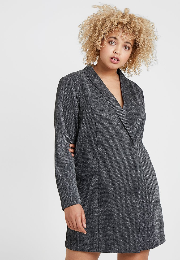 Vero Moda Curve - VMGLITTER SHORT DRESS - Jerseykjoler - black