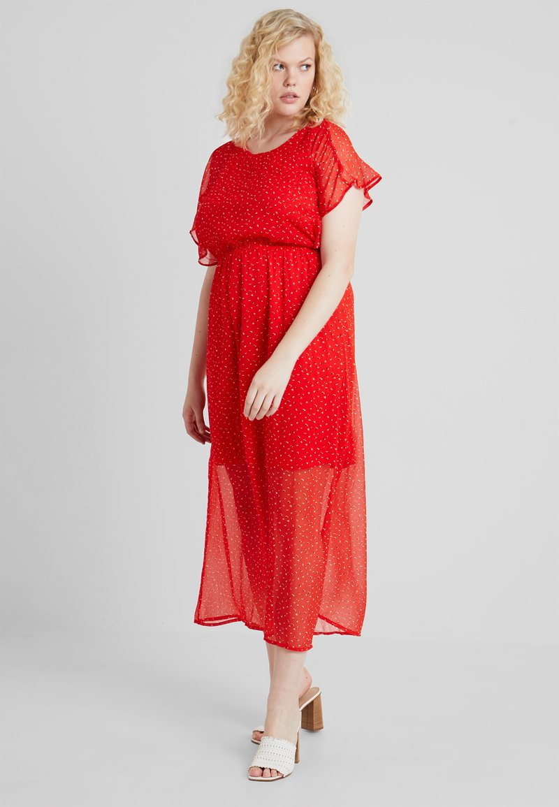 Vero Moda Curve - VMFAY ANKLE DRESS - Maxi dress - fiery red/opaya
