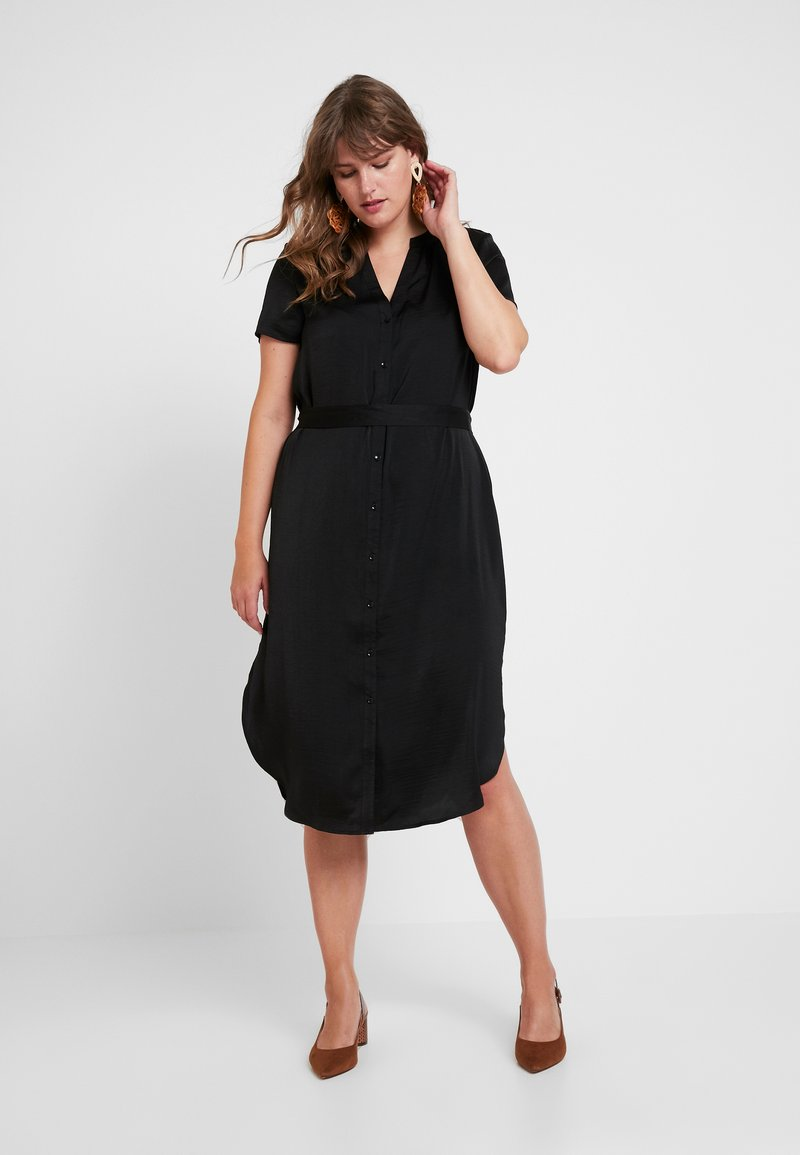 Vero Moda Curve - VMALBA BELT  DRESS - Blusenkleid - black
