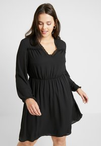 Vero Moda Curve - VMALLINA SHORT DRESS - Denní šaty - black - 0