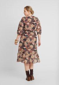 Vero Moda Curve - VMWILMA CALF DRESS - Shirt dress - mahogany/wilma - 3