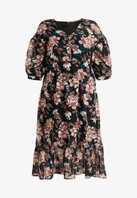 Vero Moda Curve - VMWILMA CALF DRESS - Skjortekjole - black - 4