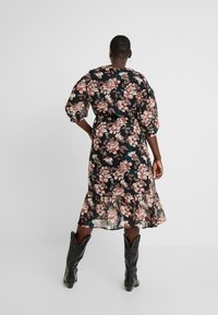 Vero Moda Curve - VMWILMA CALF DRESS - Skjortekjole - black - 3