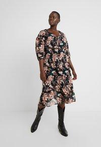 Vero Moda Curve - VMWILMA CALF DRESS - Skjortekjole - black - 0