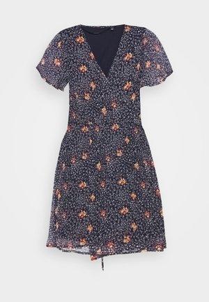 VMKAY WRAP SHORT DRESS - Day dress - dark blue