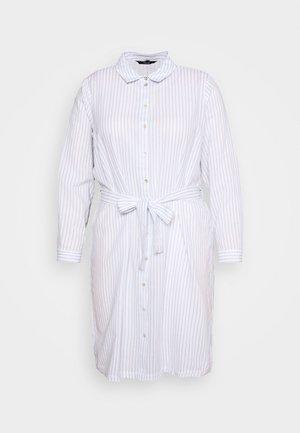 VMHELI DRESS - Košilové šaty - snow white/placid blue