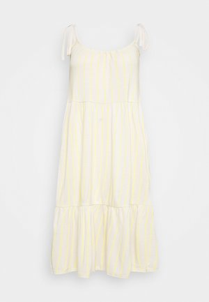 VMVALMA BELOW KNEE DRESS - Day dress - beige