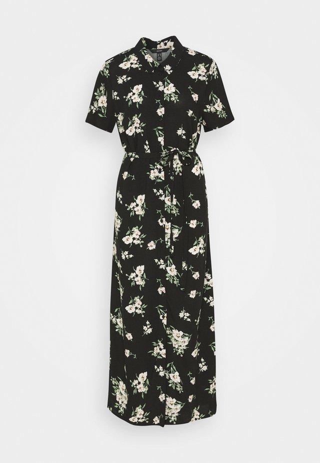 VMSIMPLY EASY LONG SHIRT DRESS - Maxi dress - black/sandy black