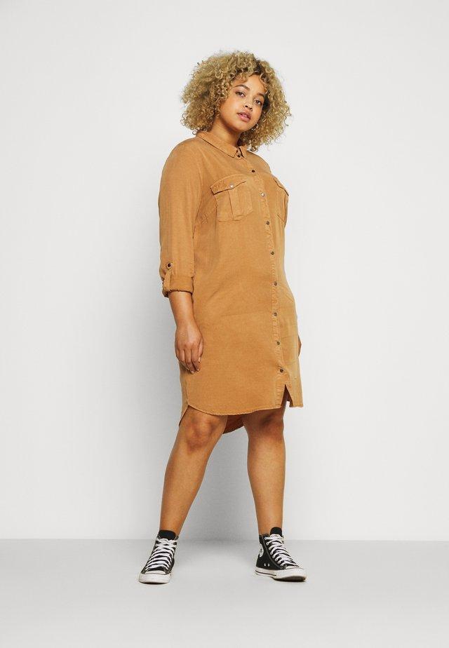 VMSILLA SHORT DRESS  - Sukienka koszulowa - tobacco brown