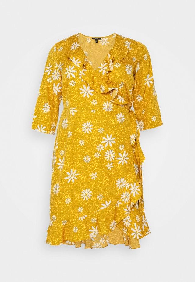 VMLYA 3/4 ABOVE KNEE DRESS - Freizeitkleid - mustard