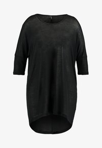 Vero Moda Curve - VMHONIE LOOSE LONG 3/4 TOP REP CURV - Topper langermet - black - 3