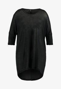 Vero Moda Curve - VMHONIE LOOSE LONG 3/4 TOP REP CURV - Long sleeved top - black - 3