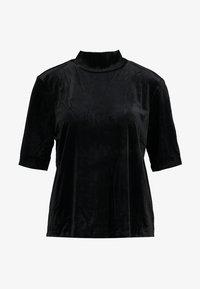 Vero Moda Curve - VMVALA HIGH NECK - Camiseta estampada - black - 3