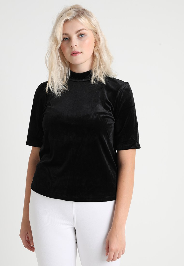 Vero Moda Curve - VMVALA HIGH NECK - Camiseta estampada - black