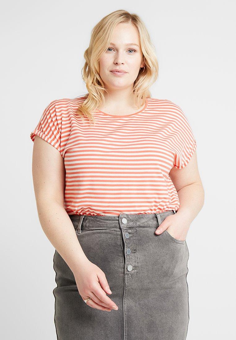 Vero Moda Curve - VMAVA PLAIN STRIPE - T-shirts med print - emberglow