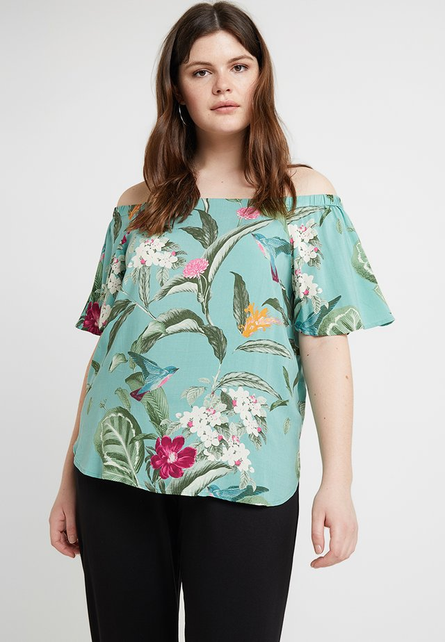 VMSIMPLY EASY OFF SHOULDER - Blouse - wasabi/tropicana