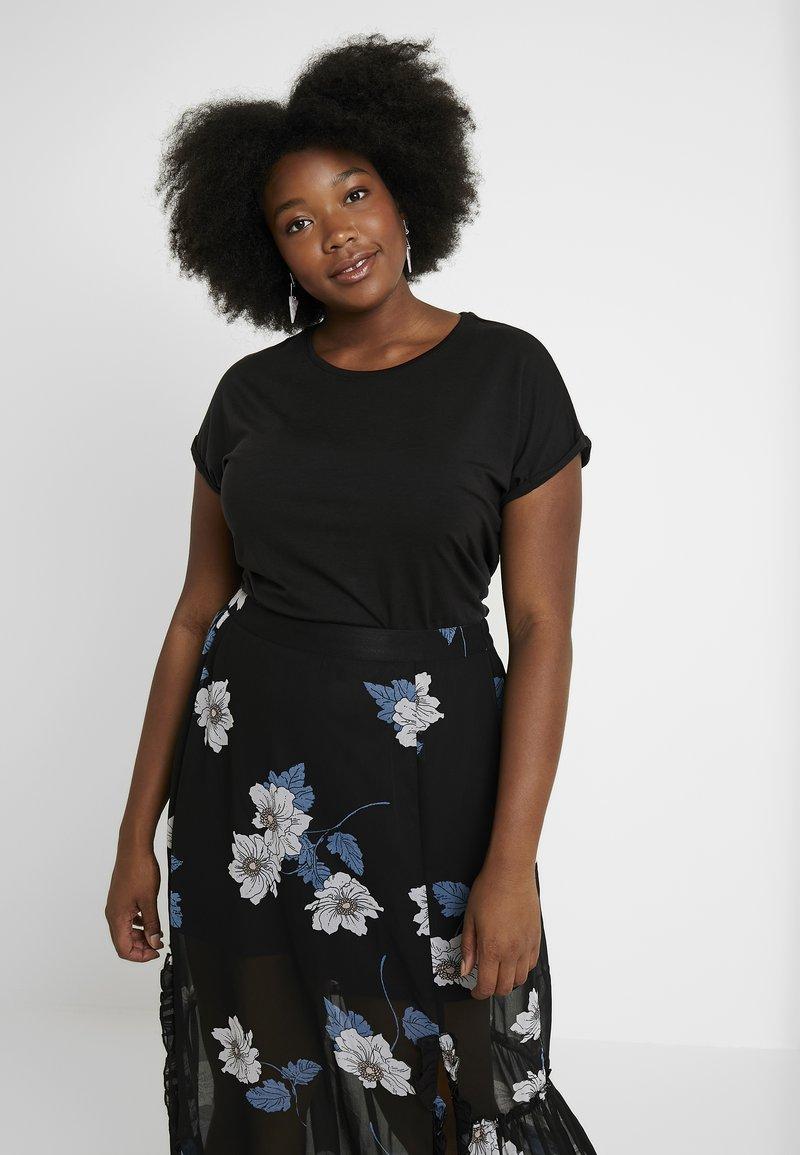 Vero Moda Curve - T-shirt imprimé - black