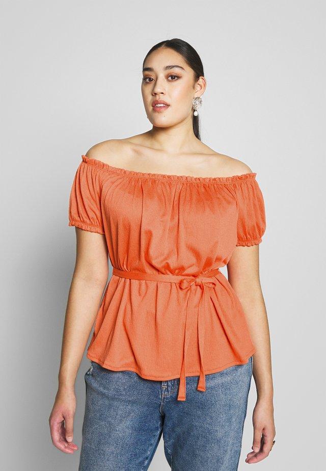 VMLEG BLOUSE - Print T-shirt - coral rose