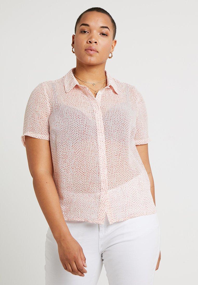 Vero Moda Curve - VMDOTTY CURVE - Bluse - pristine/red