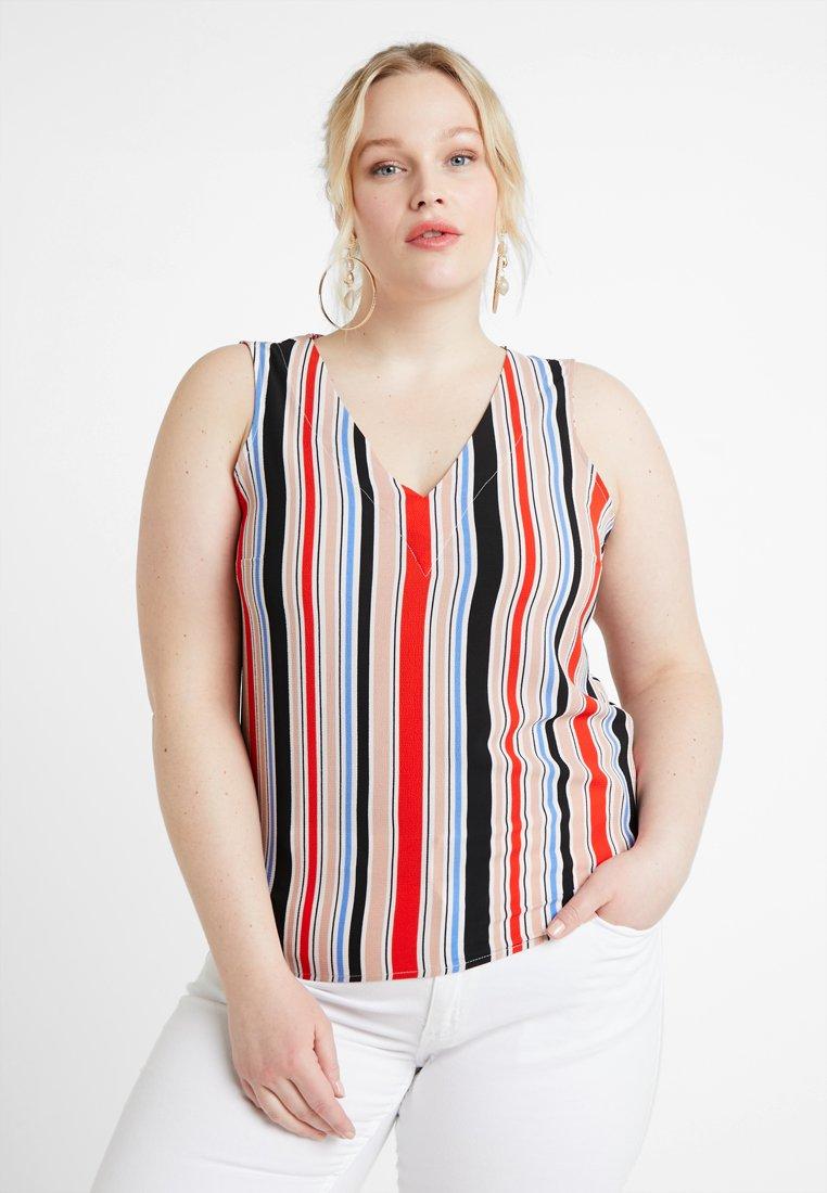 Vero Moda Curve - VMSAGA V NECK - Bluse - pristine