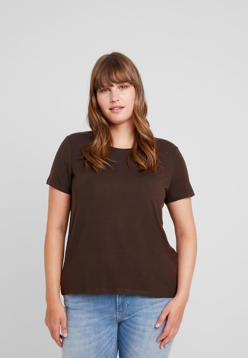 Vero Moda Curve - VMAVA - Basic T-shirt - coffee bean