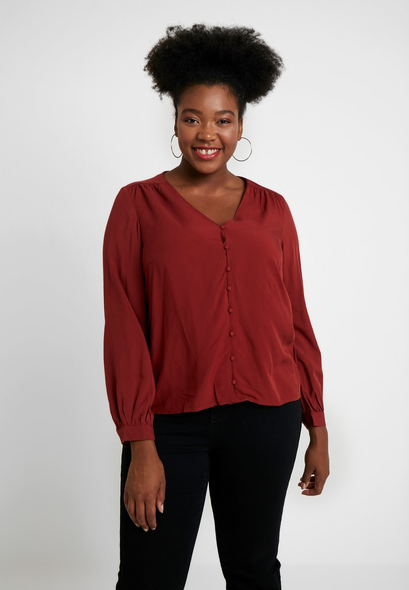Vero Moda Curve - VMIKNOW - Blouse - madder brown