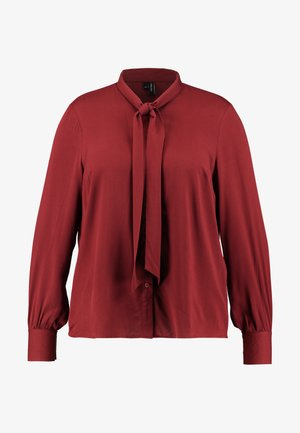 VMAMELIA BOW TIE - Button-down blouse - madder brown