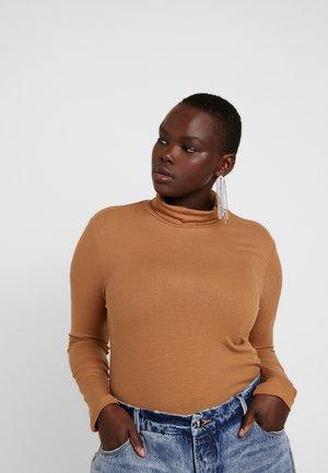 VMKATE H-NECK - T-shirt à manches longues - tobacco brown