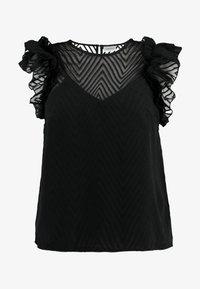 Vero Moda Curve - VMJADE O NECK - Blouse - black - 3
