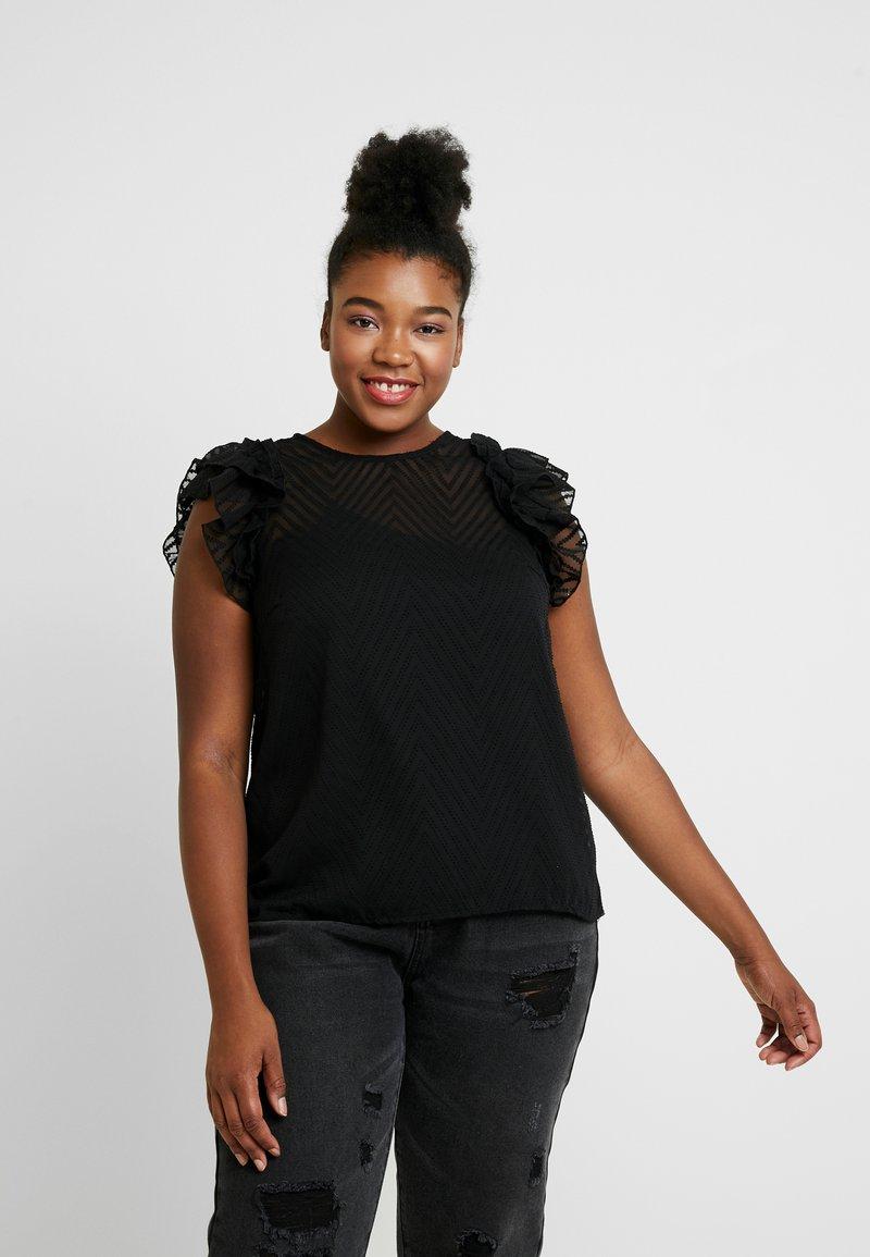 Vero Moda Curve - VMJADE O NECK - Blouse - black