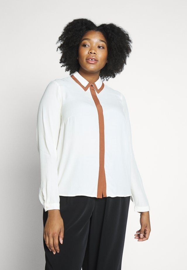 VMFRAN - Button-down blouse - birch/tortoise