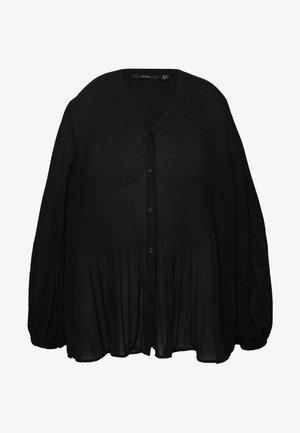 VMIBEN V-NECK SHIRT CURVE - Bluser - black