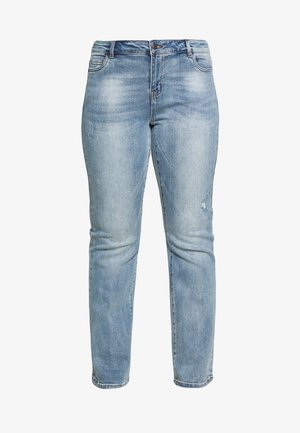 VMSHEILA FLARE - Jeans a sigaretta - medium blue denim