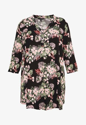 VMSIMPLY EASY 3/4 TUNIC TOP - Blusa - black