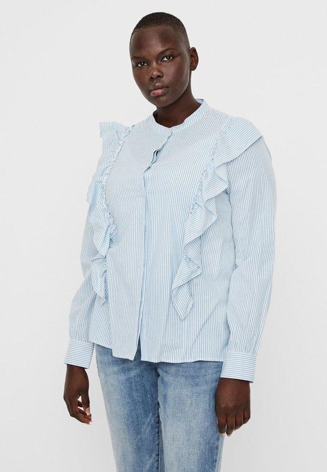 Button-down blouse - placid blue