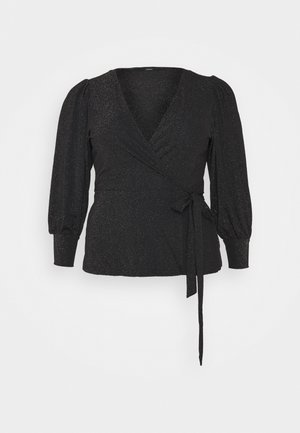VMJELINA LS WRAP - Blouse - black