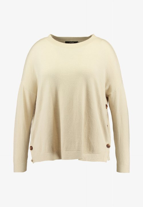 gorąca wyprzedaż w 2019 roku Vero Moda Curve VMCHOU KARIS O NECK BUTTON - Sweter - birch Odzież Damska EGJQ-HM1
