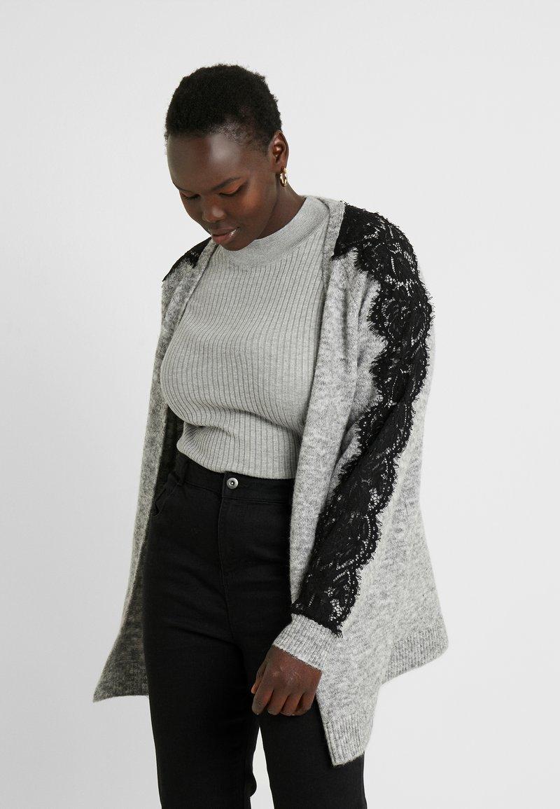 Vero Moda Curve - Cardigan - light grey melange