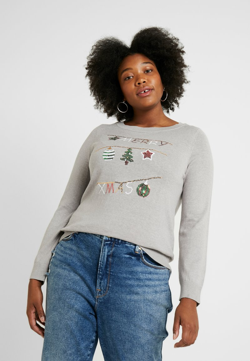 Vero Moda Curve - Jumper - light grey melange