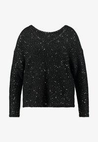 Vero Moda Curve - VMNEWLEILANI V-BACK - Pullover - black/silver - 4