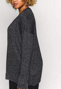 Vero Moda Curve - VMBRIANNA OPEN CARDIGAN BOO - Vest - dark grey melange - 5